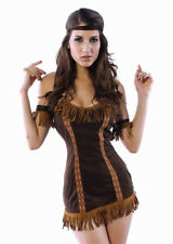 Sexy Pocahontas Indian Squaw Costume Party Dress Outfit Size 8 - 10