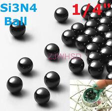 """10pcs 1/4"""" 6.35mm Silicon Nitride Ceramic Si3N4 Bearing Ball Bicycle Hub Upgrade"""