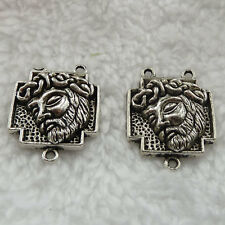 Free Ship 80 pieces tibet silver rosary Jesus connector 27x21mm #308