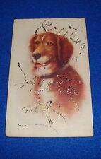 Artist Signed Kenyon Dog Postcard Titled Sport Writing on Front & Back