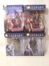 "Lot / 4 Jakks Pacific Warcraft 6"" Action Figures Blackhand Durotan Lothar Medivh"