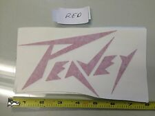 Peavey RED Sticker decal Car window music audio records drums guitar laptop