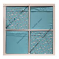 4 X IKEA Drona Storage Boxes Kallax Shelving Shelf Toys Magazine Box Blue 2 Face