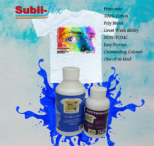 """Sublimate Coating Cotton Spray ""NEW"" Powerful Subli-fix + Cottonizer"