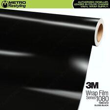 3M 1080 Series Gloss Black Vinyl Vehicle Car Wrap Decal Film Roll G12 2ft