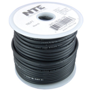 NTE Electronics WTL18-00-50 TEST LEAD WIRE 18 GAUGE BLACK STRANDED INSULATED 50'