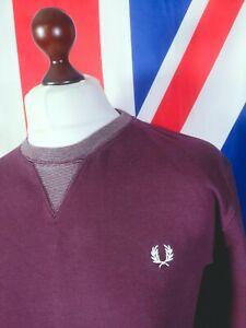 Fred Perry Sweatshirt - XL/2XL - Burgundy - Mod Casuals 60's