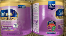 2 Pack Enfamil Premium Gentlease Infant Formula Powder - 20.9oz Each Exp 08/2021