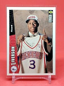 1996-97 Upper Deck Allen Iverson RC, Rookie Card Collector's Choice, 76ers