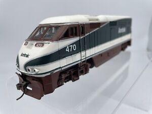 Athearn Amtrak Northwest #470 F59PHI locomotive HO Scale tested, FREE SHIP nice!