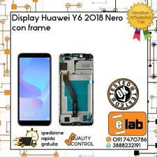 LCD DISPLAY TOUCH SCREEN PER HUAWEI Y6 2018 CON FRAME NERO ATU-L11 ATUL21 VETRO