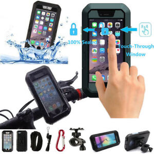 Waterproof Bicycle Handlebar Mount Holder Case For iPhone 7 8 Plus XS 11 12 Pro