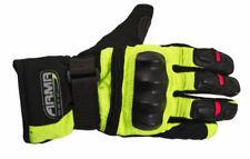 Guanti gialli in tessuto per motociclista taglia XL
