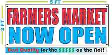 Farmers Market Now Open Banner Sign New Larger Size Best Quality for the $