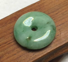 Certified Green 100%Natural A Jade jadeite Pendant Circle Donut Necklace 平安扣 AAA