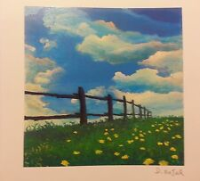 David NAJAR 2013-Fence Line PARKWEST-SERIOLITHOGRAPH in COLOR w/COA on archival