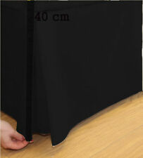 Plain Dyed 100% Poly Cotton Platform Base Valance Box Pleated Sheet All Sizes