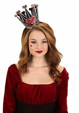 Alice In Wonderland Queen Of Hearts Costume Sparkle Lightweight Crown Elope New
