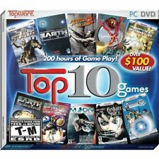 Topware's Top 10 Games Adventure & Strategy Edition (PC Games, 2009) NEW Sealed
