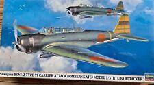 "1/48 Hasegawa Nakajima B5N2 Type 97 ""Kate"" Model 3 ""Ryujo Attacker"" 09884 OOP"