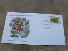 1979 World Wildlife Fund WWF First Day Cover- Bermuda -Monarch Butterfly
