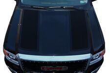 Vinyl Graphics Decal Wrap Kit fits 2014-17 GMC Sierra RACING STRIPES Matte Black