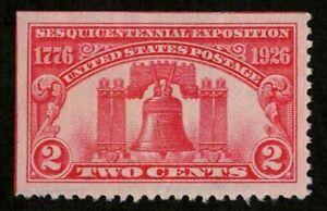 US 1926 #627 - 2c Liberty Bell Sesquicentennial Expo ULC SE Used Superb Jumbo