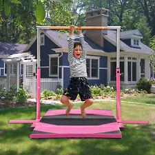 Adjustable Horizontal Gym Steel Kip Bar+Mat Training Equipment Kids Improved