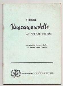 PGH Hawege Schöne Flugzeugmodelle an der Steuerleine 1963 DDR (H1