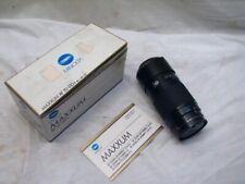 Minolta Maxxum 70-210mm f/4 Zoom Camera Lens Telephoto
