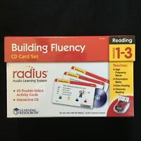 Building Fluency CD Card Set Reading 1-3 Grades SEALED Unopened Audio Learning
