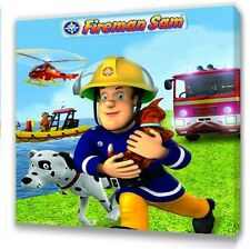"Fireman Sam  Canvas 10""x10""  Framed Picture s2"