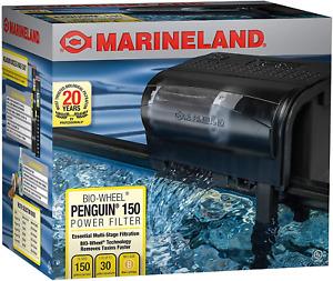 Marineland Bio-Wheel Penguin Power Filter Multi-Aquarium 20-30 Gal.150 GPH