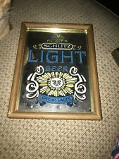 Schlitz Light Beer Special Lager 8x6 Mirrored Sign
