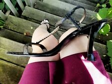 Well Worn Womens Shoes heels size 9 m velvet Nine West Strappy Leather