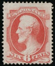 US Sc# 148 *UNUSED NG LH* { 6c CARMINE LINCOLN } BANKNOTE FROM 1870 CV$ 350.00
