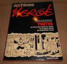 1979 Archives Herge 1 TINTIN Pays des Soviets Congo Amerique TOTOR CP Hannetons