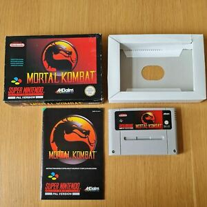 MORTAL KOMBAT SUPER NINTENDO SNES PAL GAME BOXED COMPLETE WITH MANUAL FREE P&P
