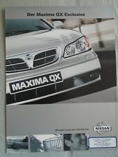 Nissan Maxima QX exclusivo folleto agosto 2000 texto alemán