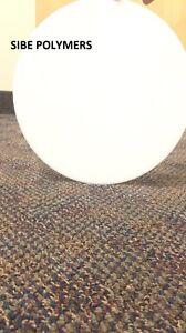 "WHITE OPAQUE ACRYLIC PLEXIGLASS 1/8"" PLASTIC SHEET CIRCLE DISC 8"" DIAMETER"