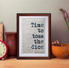 Rueda del tiempo Diccionario página Art Print inspiración citas literarias Libros De Regalo