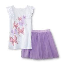 Butterflies Tank Top & Tutu Skirt Girls- Size S (6/6X)  NWT Piper