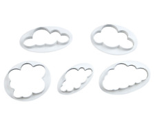Cloud Shaped Cookie Cutter Press Pastry Biscuit Cake Sugar Icing Mould 5 Pcs Set