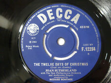 "JOAN SUTHERLAND ~ TWELVE DAYS OF CHRISTMAS ~ NEAR MINT 1965 UK 7"" VINYL SINGLE"