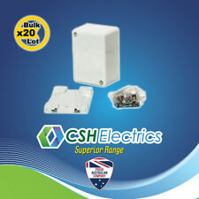 20 x Large Junction Box with connectors 32A 500V White Electrical Big Jbox
