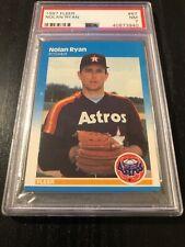 1987 Fleer # 67 - NOLAN RYAN - PSA 7 NM - HOF - Houston Astros - Nice!