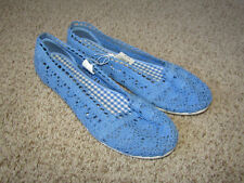 NWT ROUTE 66 WOMENS EDEE BLUE LACE SLIP ON SHOES SIZE 11 UNWORN