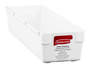 """Rubbermaid 2915RDWHT 9"""" X 3"""" X 2"""" Drawer Organizers White Washable New"""