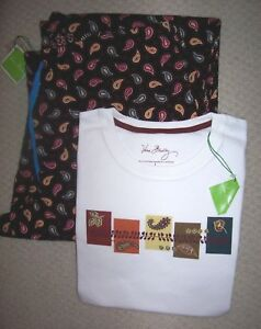VERA BRADLEY KENSINGTON Paisley PJ pajama SET shirt baby corduroy NEW SZ S Small