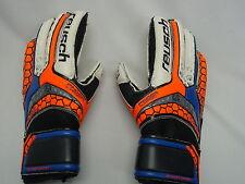 New Reusch Soccer Goalie Gloves PULSE RG Finger Support 3672832S Junior SZ 5